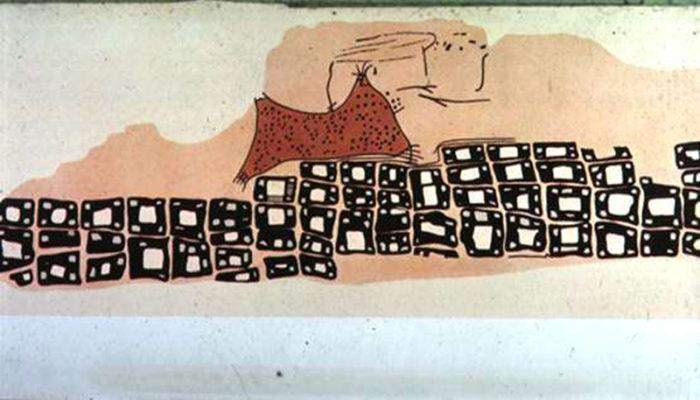 Konya Town Map, Turkey – the world's oldest known map. 6200 BC. Image credited to Yorku