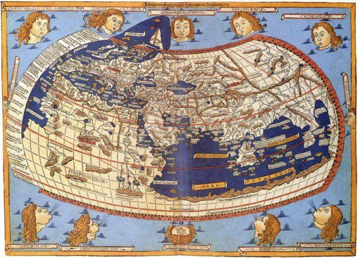 A 15th-century reconstruction based on Ptolemy's projections of the world. Image credited to Wikipedia