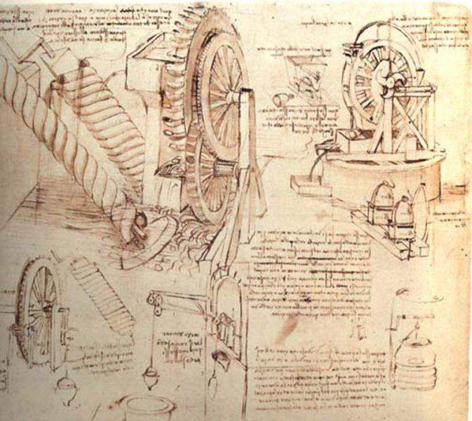 Sketch on paper by Leonardo da Vinci