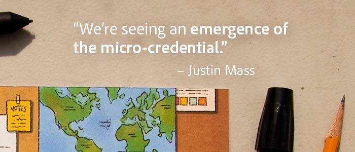 Quote about seeing an emergence of micro-credentials