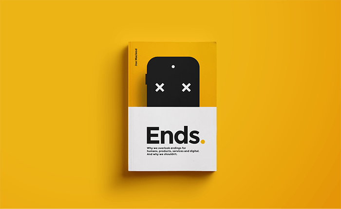 The cover page of Joe Macleod's book, Ends.