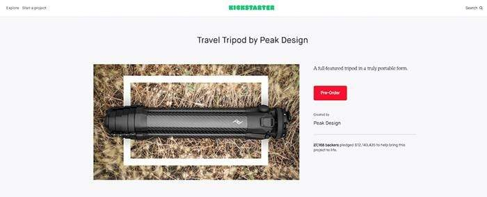 Peak Design's Travel Tripod became the most successful photography project in Kickstarter history by engaging backer's throughout the design process.