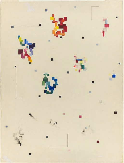 Albert Szabo, Exercise in color and shape relations, c. 1945.