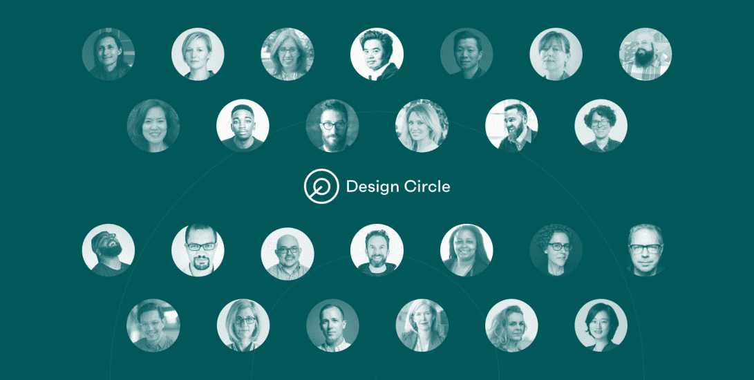 The headshots of the Design Circle's 26 founding members.