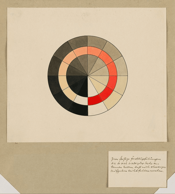 1932 Bauhaus black and red color exercise.