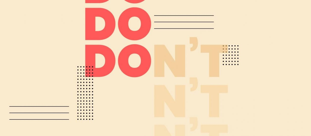 Graphical elements of Do and Don't