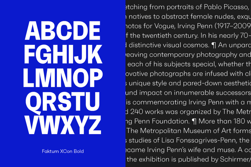 Letters per line with typography