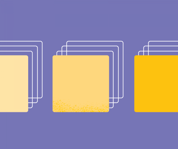 Blocks in yellow shades on a purple background