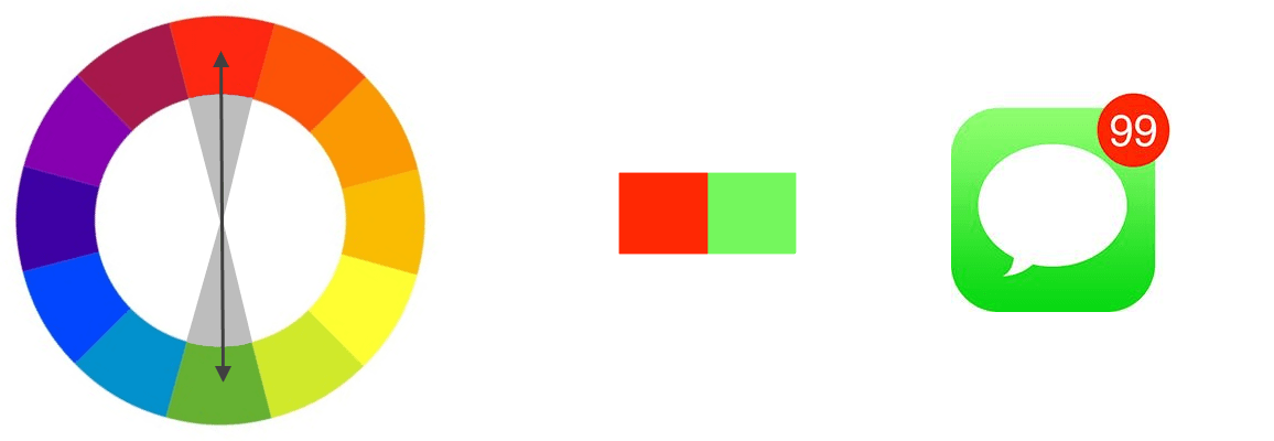 Complementary colors with an app icon example