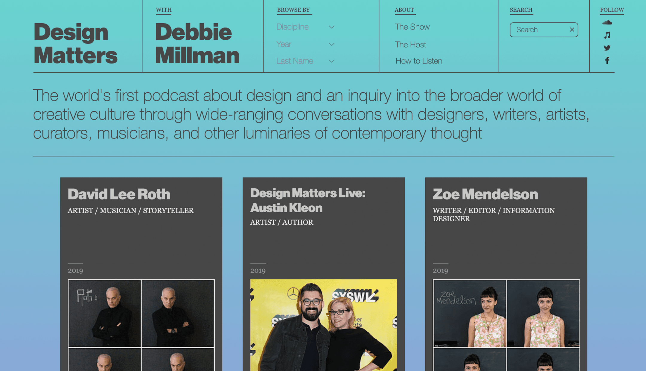 A screenshot from debbiemillman.com