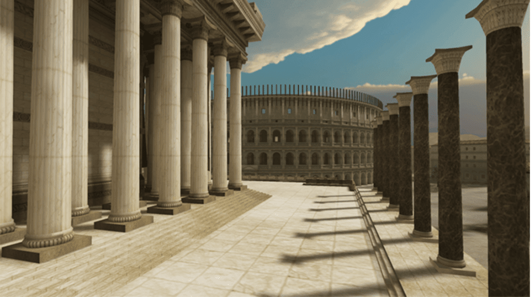 Virtual reality setting of Rome