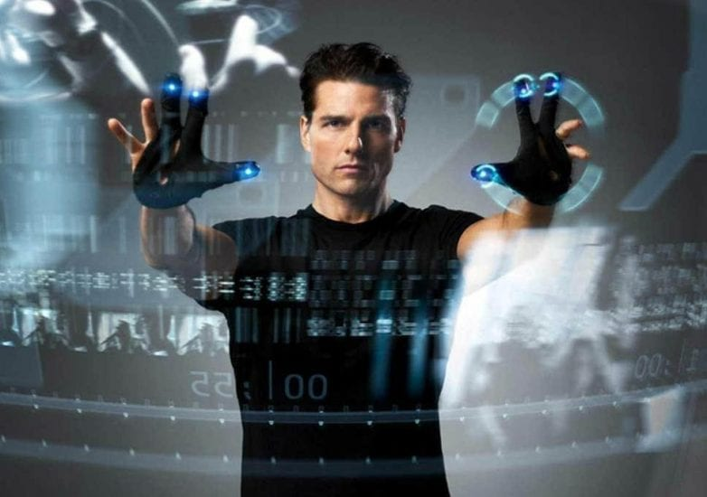 Tom Cruise using interactive computer