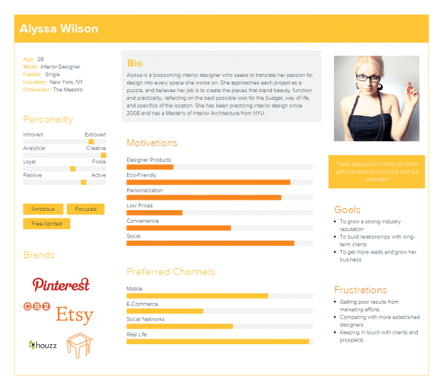 Example of a user persona