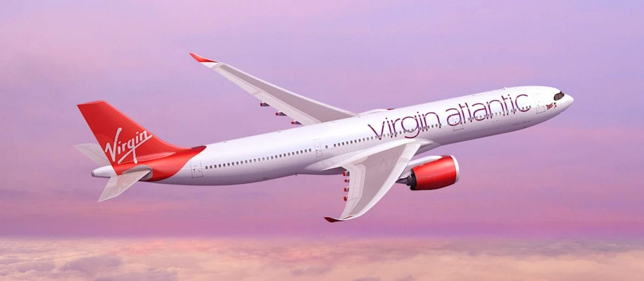 Virgin Atlantic airplane in flight