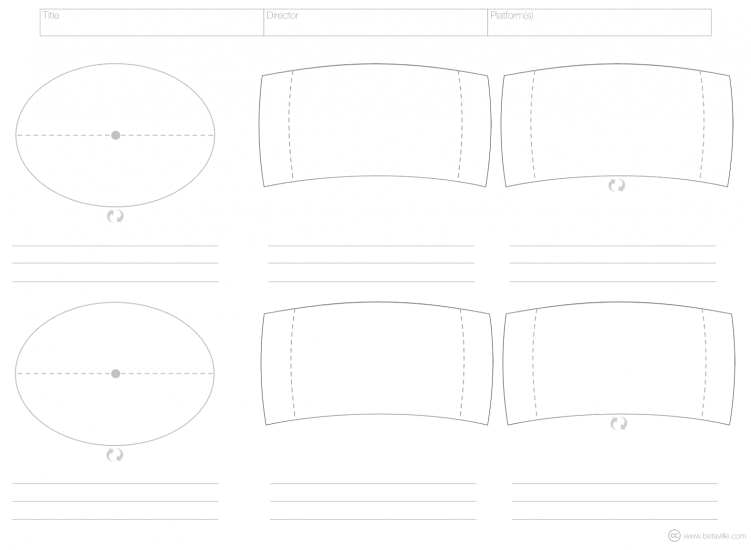 An example of a VR storyboard template shows an oval view and panoramic view.