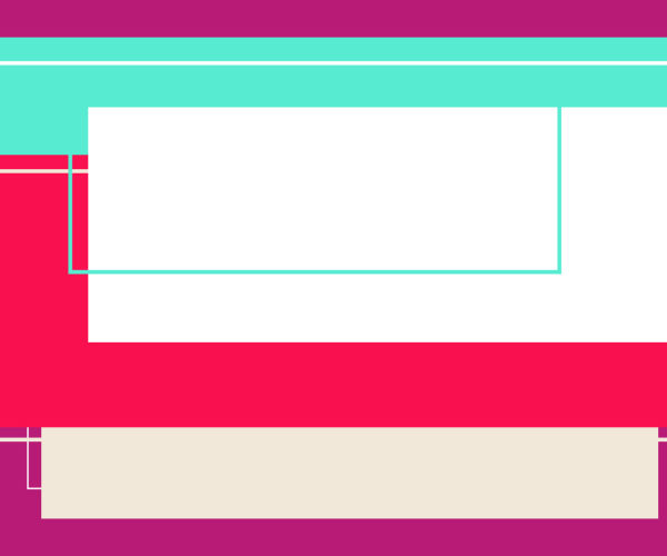 Illustration of color blocks moving up and down a screen to mimic parallax scrolling