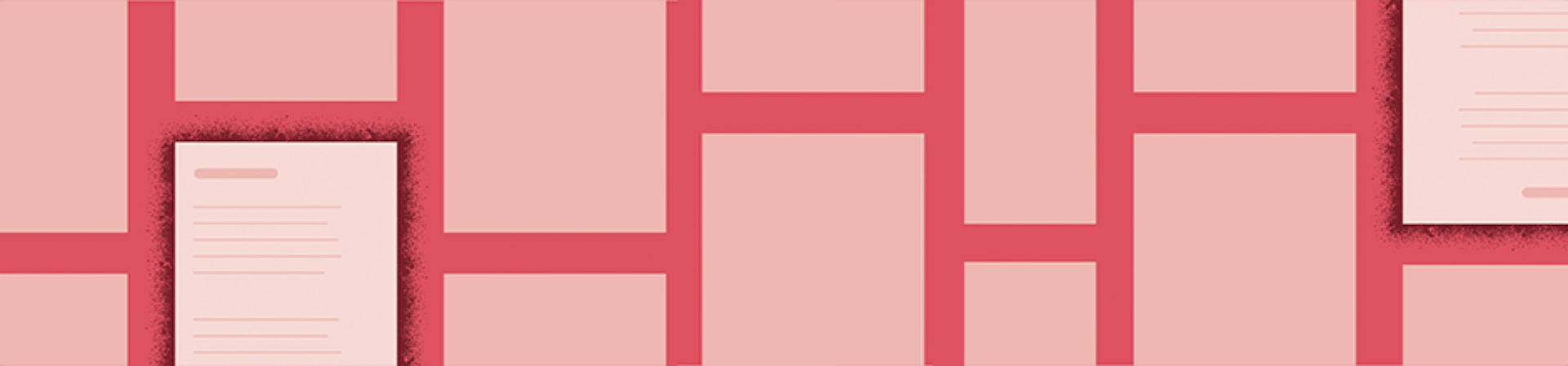 Graphic design of rectangles that mimic pieces of paper