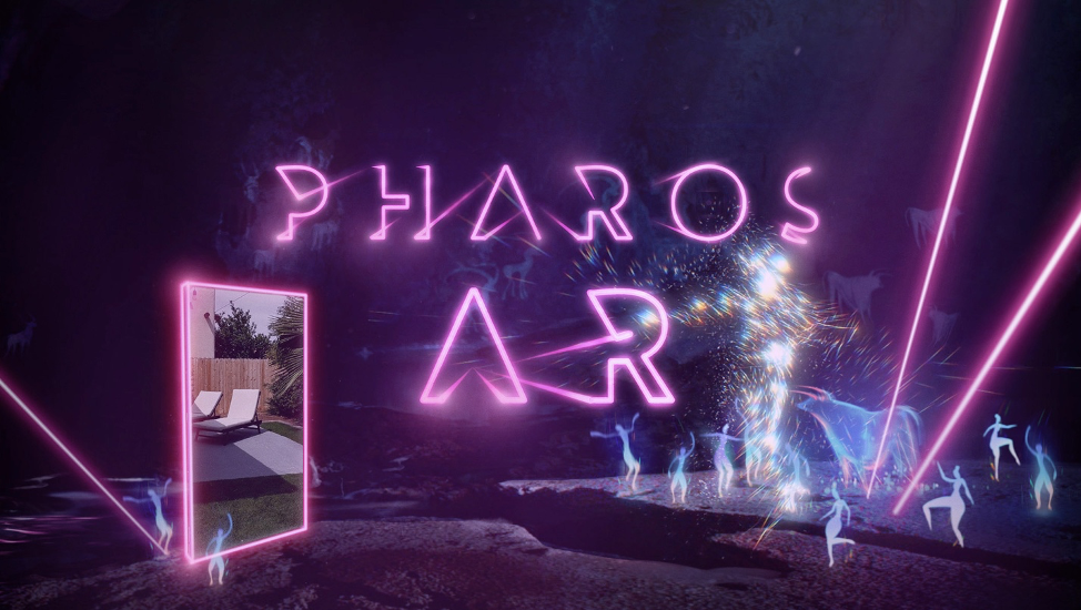 electric signage that reads Pharos AR