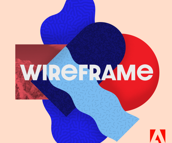 Wireframe with Adobe logo