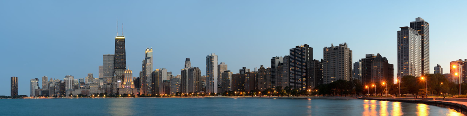 Chicago offers a beautiful skyline from North Avenue Beach looking south.