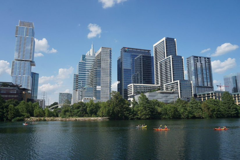 With a population of 950,000 people and a nice warm climate, Austin is a good place to work and live.