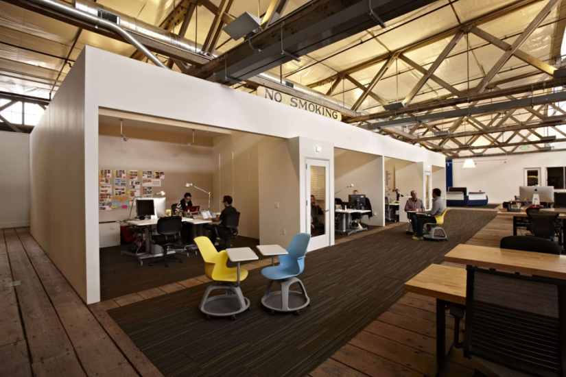 The IDEO office is located in San Francisco and designed by Jensen Architects.