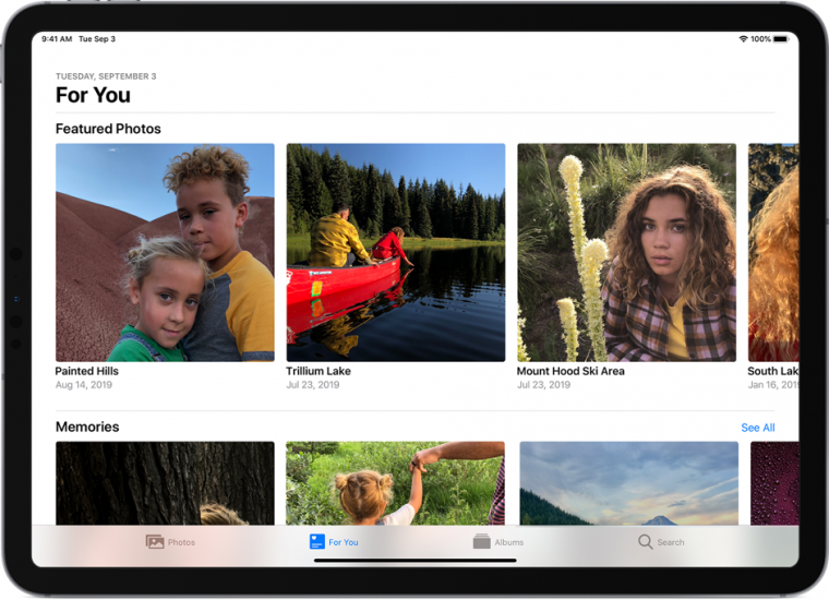In the For You section of Photos for iOS, you can see featured content that the app created so you can view your favorite moments.