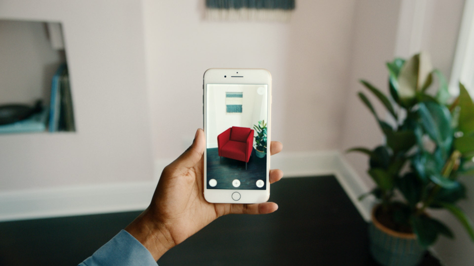 The Ikea Place app uses AR to help users understand whether the furniture they want to buy will fit into their interior.