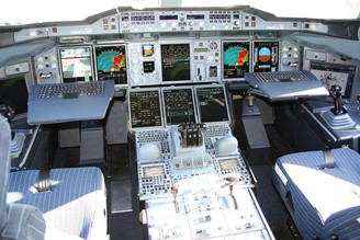 The cockpit of an Airbus A380 looks complex to anyone who doesn't have flight experience; similar, human factors design aims to make things easier when you're using a product or platform.