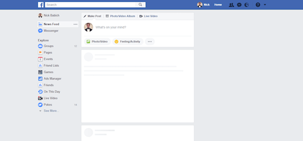 Facebook uses skeleton screens to fill out the UI as content loads incrementally.