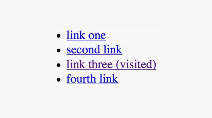 Do. Visually differentiate visited links.